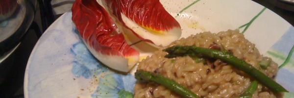 Ricetta Risotto Asparagi E Radicchio.Risotto Con Radicchio E Asparagicivifood Collection